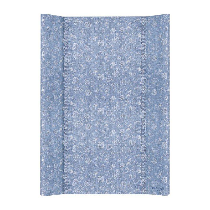 CEBA Podložka přebalovací 2hranná MDF 70 cm Denim Style Boho blue Ceba