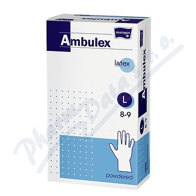 Ambulex rukavice latexové jemně pudrované L 100ks - II.jakost