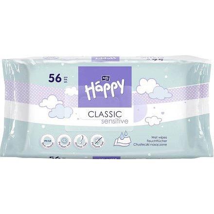 Happy Classic Sensitive čistící ubrousky á 56ks