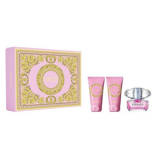 Versace Bright Crystal  dárková kazeta EdT 50 ml + SG50 ml +Bl50 ml