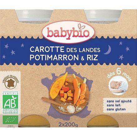 BABYBIO mrkev dýně rýže 2x200g