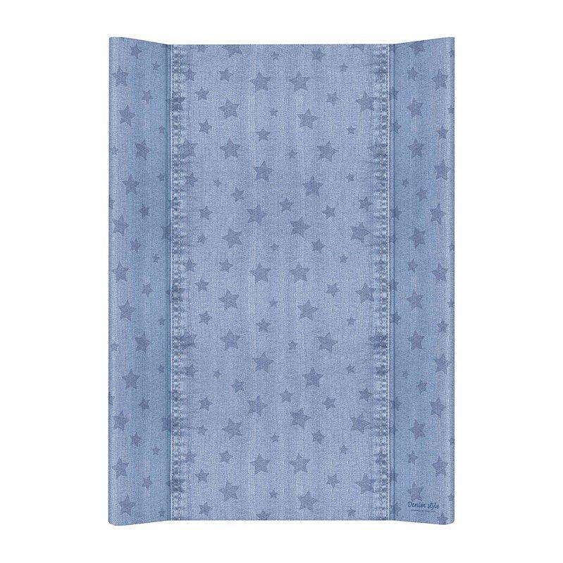 CEBA Podložka přebalovací 2hranná MDF 70 cm Denim Style Stars blue Ceba