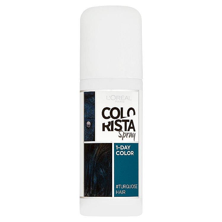 L'Oréal Paris Colorista Spray 1-Day Color Turquoise Hair tyrkysová, 75 ml