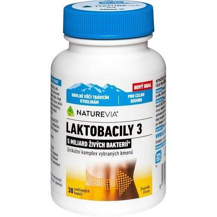 Swiss NatureVia Laktobacily 3 30 kapslí
