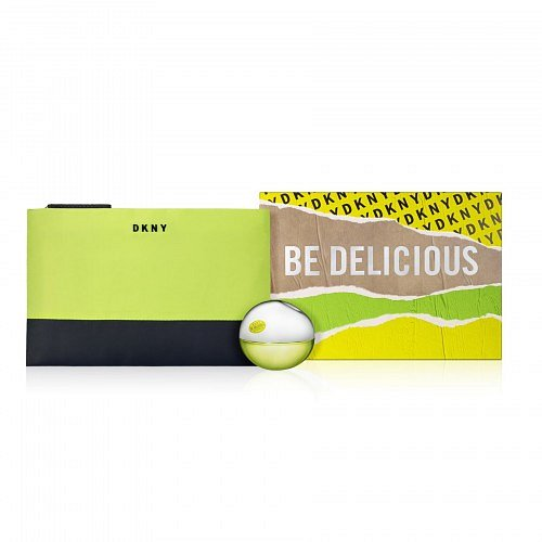 DKNY Be Delicious Gift Set  dárková kazeta EdP 30 ml + kosmetická taštička