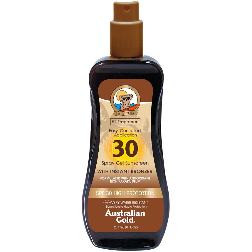 Australian Gold Spray Gel + Bronzer SPF30 237ml