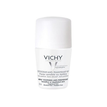 Vichy Antiperspirant 48H Deodorant na citlivou nebo depilovanou pokožku 50ml
