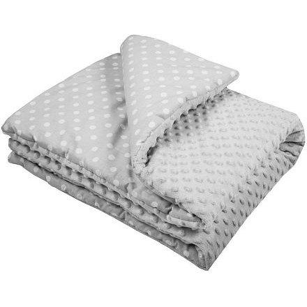 Dětská deka z Minky s výplní New Baby šedá 80x102 cm