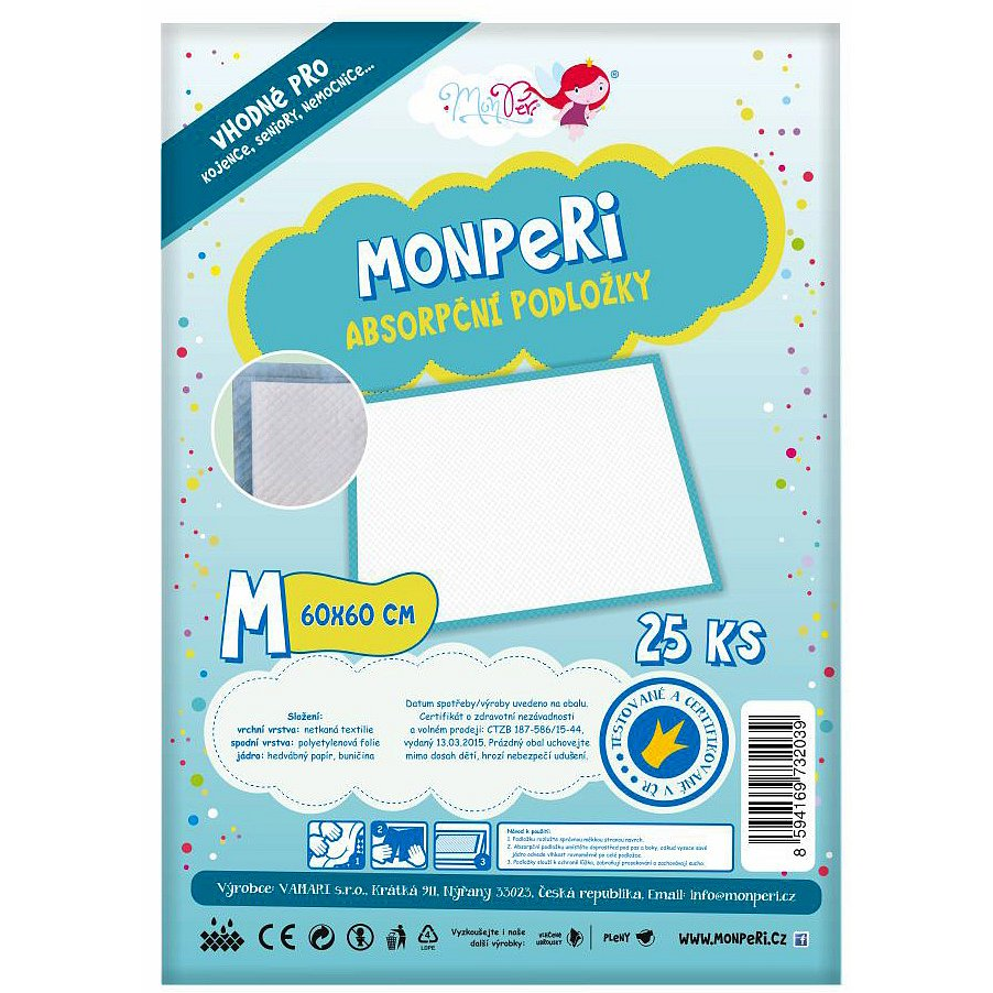 MonPeri Podložky M (60x60 cm)