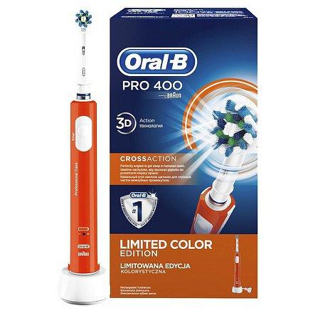 Oral-B Pro 400 Orange + náhradní hlavice ZDARMA*