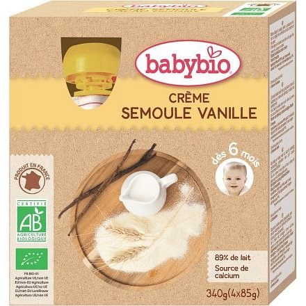 BABYBIO krupice s vanilkou 4x85g