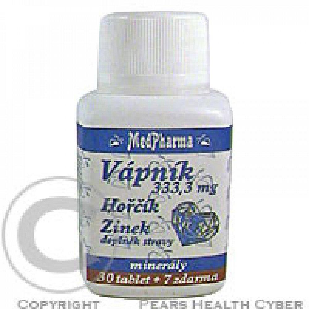MedPharma Vápník+hořčík+zinek tbl.37, poškozený obal