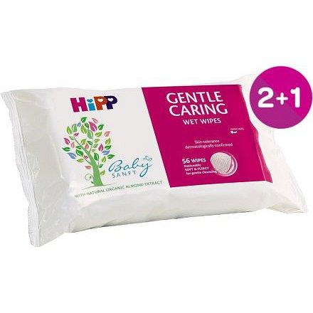 HiPP BABYSANFT Dětské čistící vlhčené ubrousky 56ks 2+1 ZDARMA*