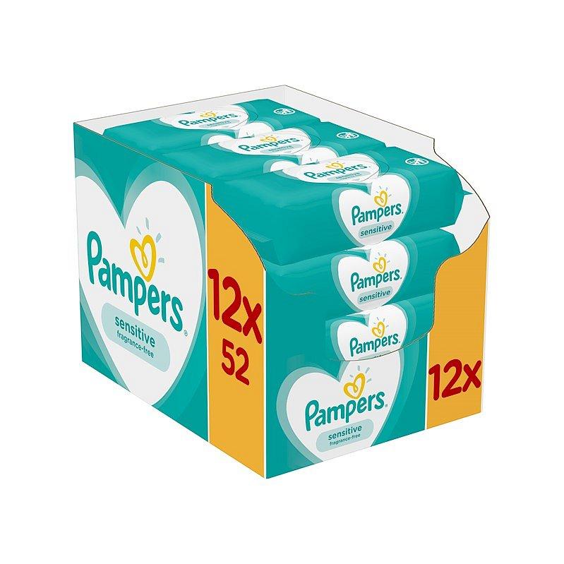 12 x PAMPERS Sensitive dětské čisticí ubrousky