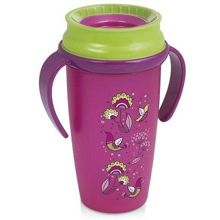 Hrníček LOVI 360 ACTIVE 350ml bez BPA FOLKY růžový