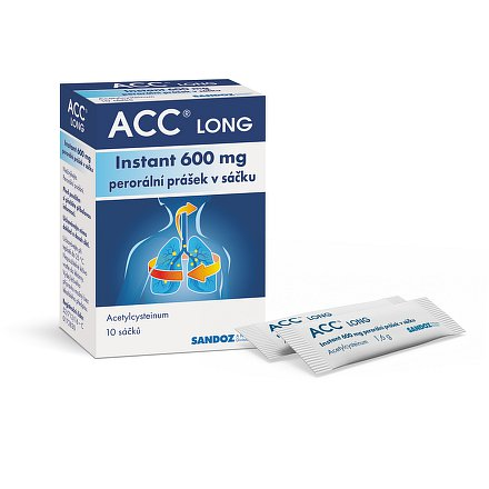 ACC Long 600mg instant 10 ks sáčků