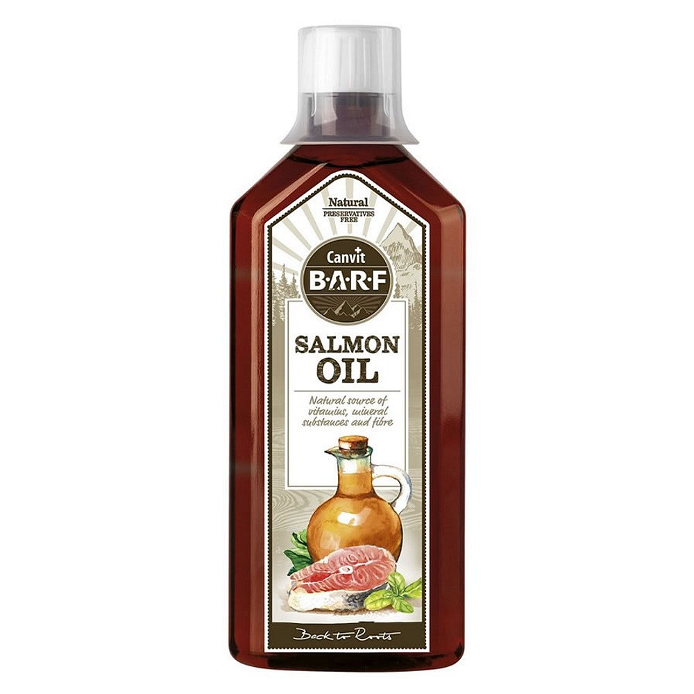 CANVIT BARF lososový olej pro psy 500 ml