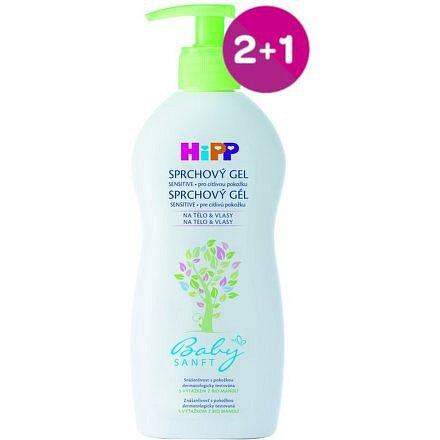 HiPP BABYSANFT Dětský sprchový gel 400ml 2+1 ZDARMA*