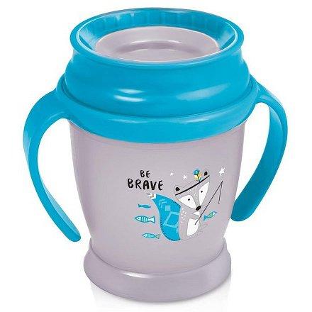 Hrníček LOVI 360 MINI 210ml s úchyty bez BPA Indian summer modrý