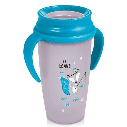 Hrníček LOVI 360 ACTIVE 350ml bez BPA Indian summer modrý