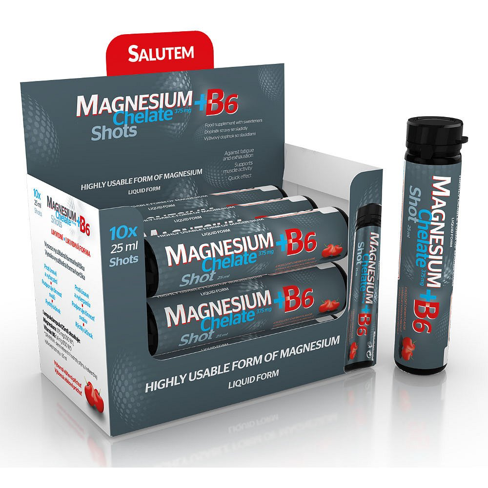 MAGNESIUM Chelate+B6 cherry ampule 10 x 25 ml, poškozený obal