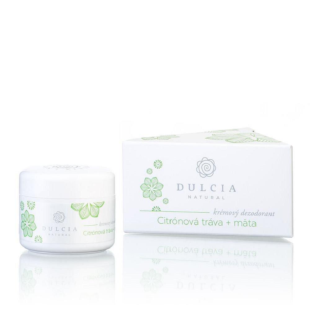 DULCIA Natural krémový deodorant Citrónová tráva 30 g, poškozený obal