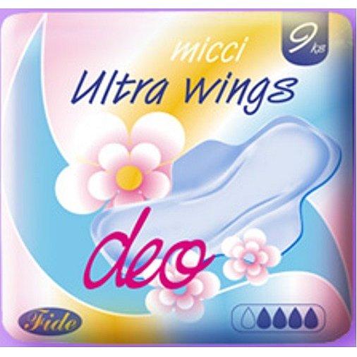 Micci ultra DEO wings dámské vložky 9 ks/bal.