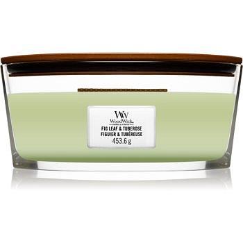 Woodwick Fig Leaf & Tuberose vonná svíčka s dřevěným knotem (hearthwick) 453,6 g