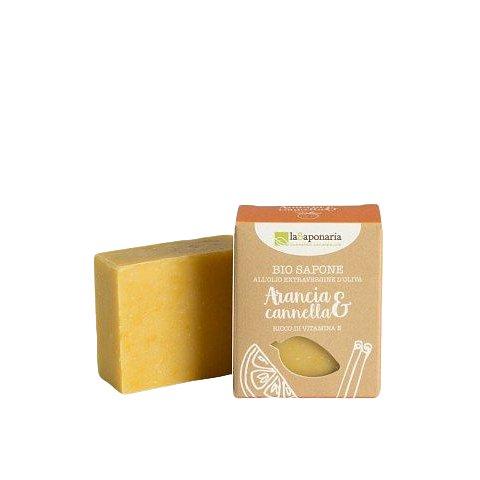 laSaponaria Tuhé olivové mýdlo BIO Pomeranč a skořice 100g