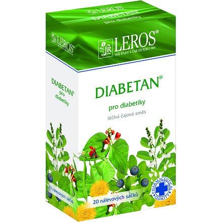 LEROS Diabetan perorální léčivý čaj 20 x 1 g sáčky