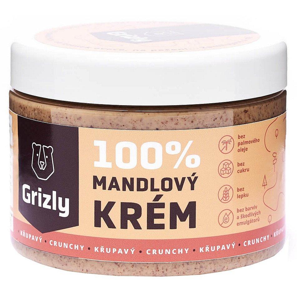 GRIZLY 100% Mandlové máslo křupavé 500g