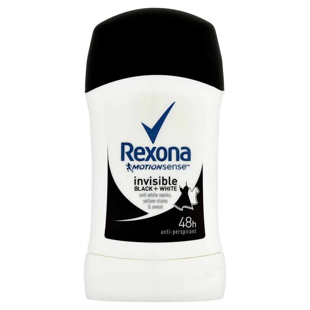 REXONA Invisible Black&White tuhý deodorant 40 ml, poškozený obal