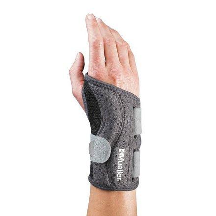MUELLER Adjust-to-fit wrist brace right ortéza na pravé zápěstí šedá