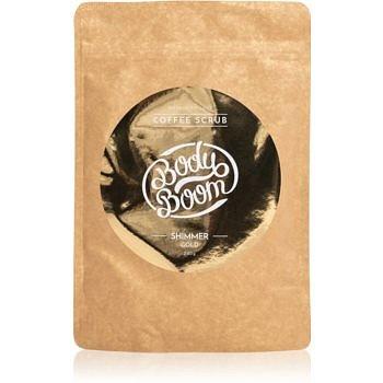 BodyBoom Shimmer Gold kávový tělový peeling 200 g