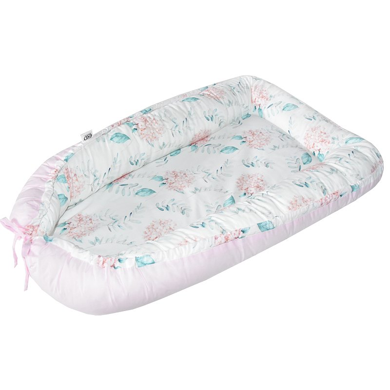 EKO Hnízdo pro miminko bavlněné Hydrangea