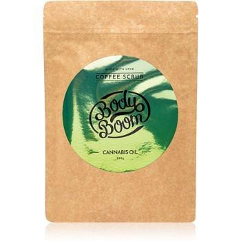 BodyBoom Cannabis Oil kávový tělový peeling 200 g