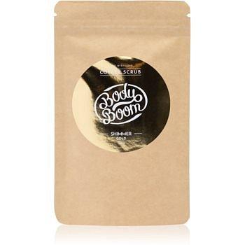 BodyBoom Shimmer Gold kávový tělový peeling 100 g