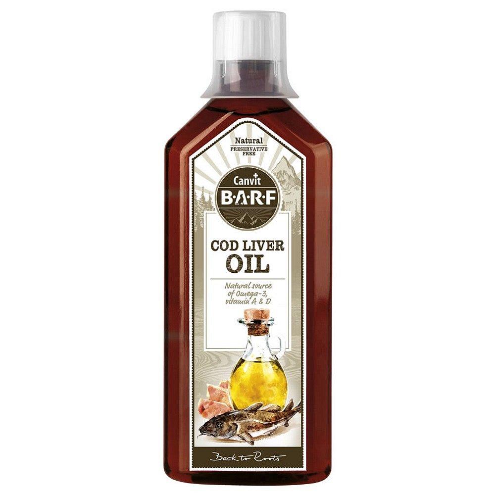 CANVIT BARF Olej z tresčích jater pro psy 500 ml