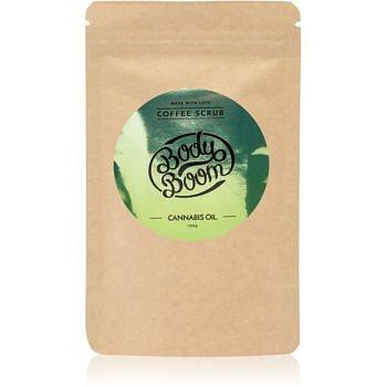 BodyBoom Cannabis Oil kávový tělový peeling 100 g