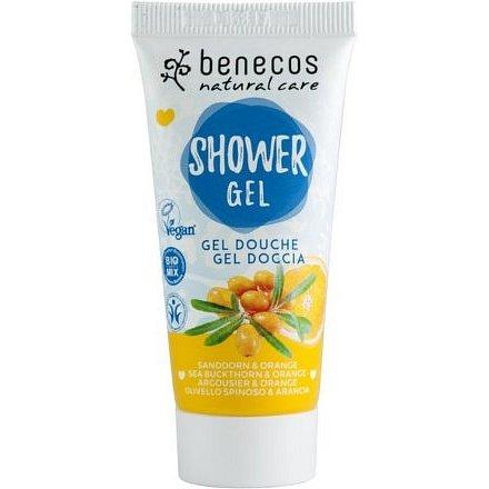 Benecos sprchový gel rakytník a pomeranč BIO VEG 30ml