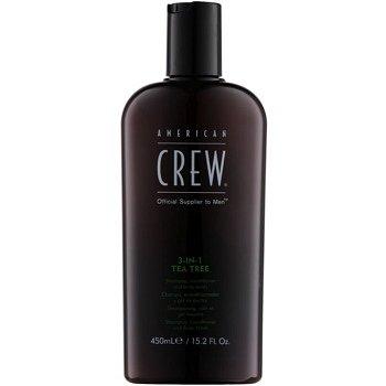 American Crew Tea Tree šampón, kondicionér a sprchový gel 3 v 1 pro muže  450 ml