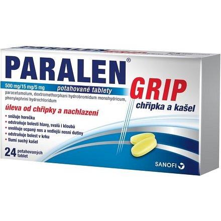 Paralen Grip chřipka a kašel 12 tablet