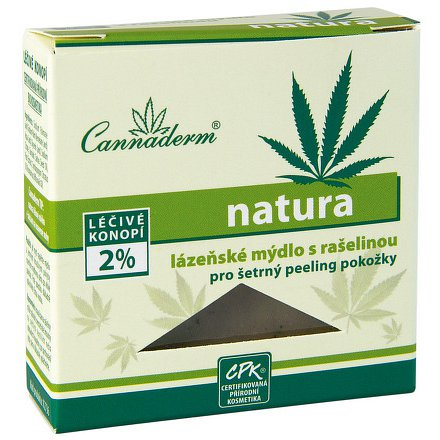 Cannaderm Natura lázeňské mýdlo 80 g