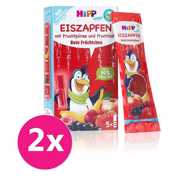 2x HiPP BIO Rampouch Červené ovoce, ovocné pyré ke zmražení (5x30 ml)