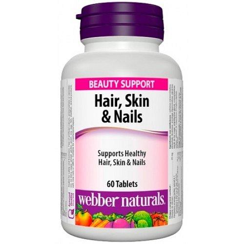 Webber Naturals Kůže, vlasy & nehty 60 tablet