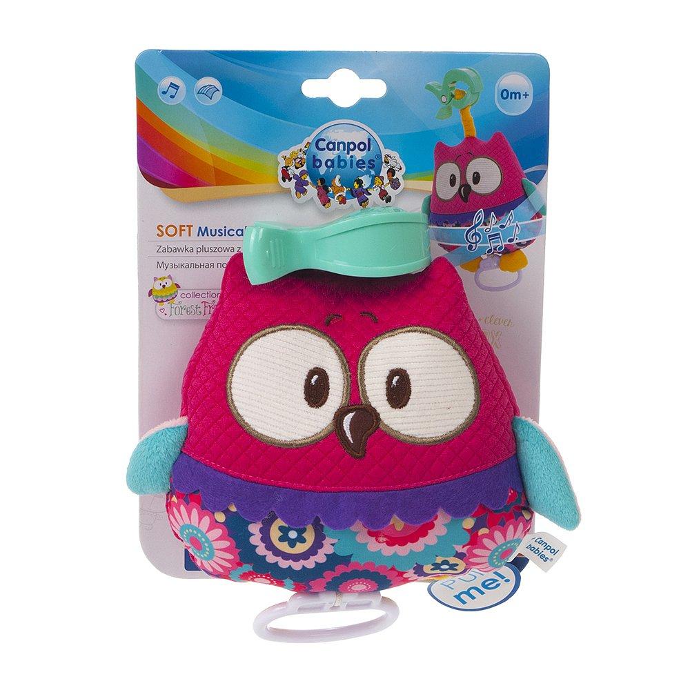 CANPOL BABIES plyšová hračka se zvuky FOREST FRIENDS  růžová sova