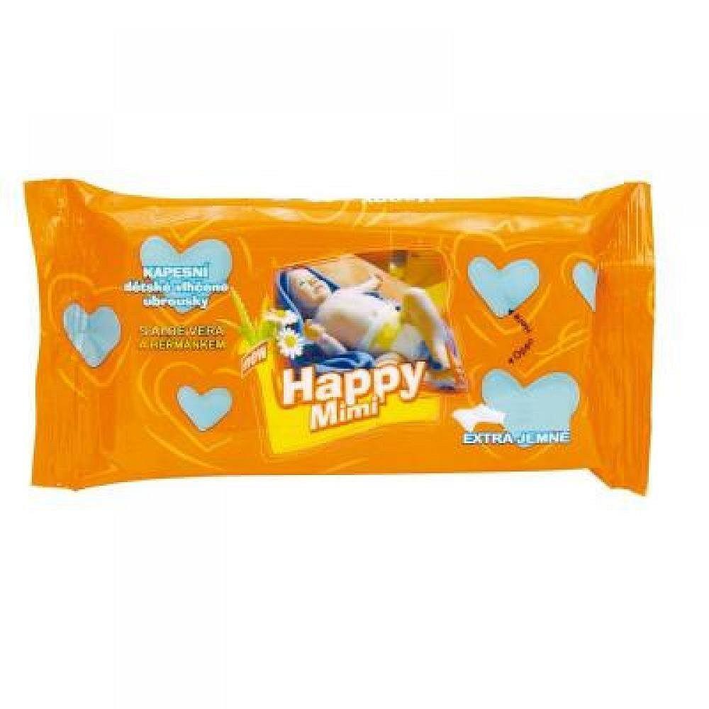 Happy Mimi dětské toaletní vlhčené ubrousky s aloe 72ks