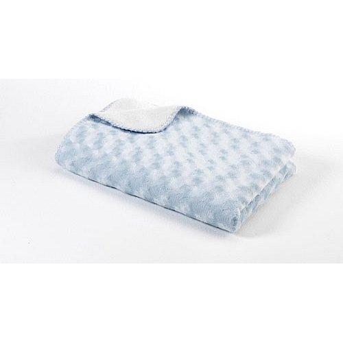 BABYDAN Dětská deka double fleece oboustranná 75x100, light blue