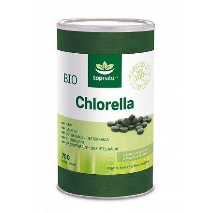 BIO Chlorella tablety TOPNATUR - 750 tablet