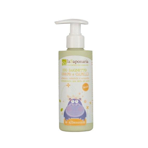 laSaponaria Jemný tělový a vlasový mycí gel pro děti BIO 200ml